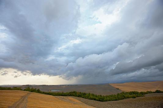 Crete Senesi During A Thunderstorm