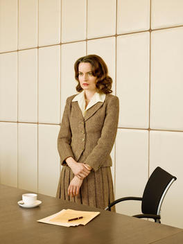 Portrait Of Woman In 1960\'S Attire In Office