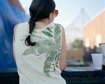 Woman\'S Back With Palm Tree T-Shirt