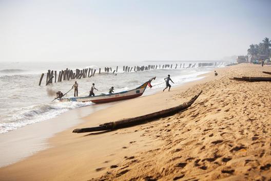 fishermen at the beach