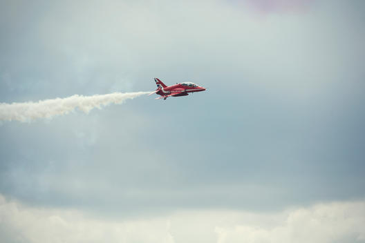 Red Arrows performing at air show