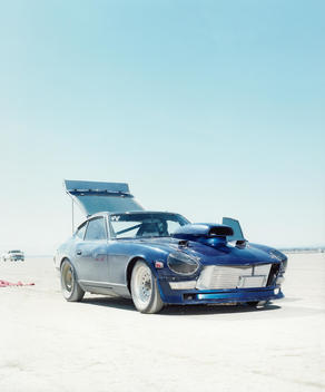 Land Speed Racing, Blue Racing Car
