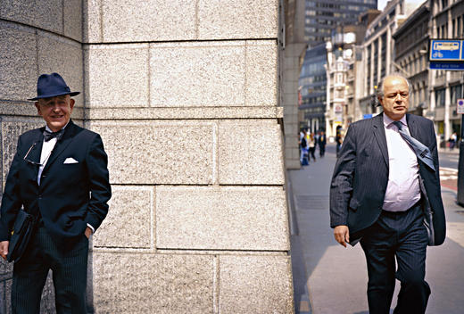 Two Business Men Near The Corner Of Street In London, United Kingdom
