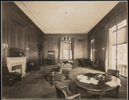 Mr. Cook And Mr. Blake\'S Office At The Cunard Steamship Co. Executive Offices At 25 Broadway.