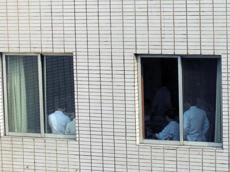 Doctors Working Inside The Guiyang Hospital. Guiyang, China.