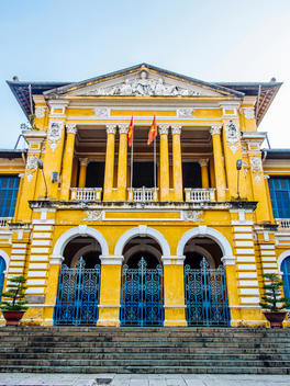 A French colonial architecture building in Ho Chi Minh City (Saigon), Vietnam.