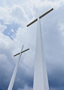 Large Roadside Cross Memorial