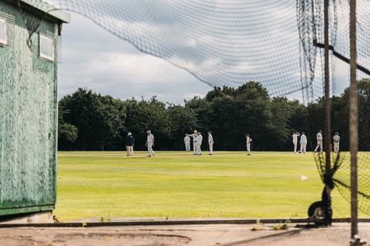 Cricket played by amateurs during the weekend. Barnet. London. UK