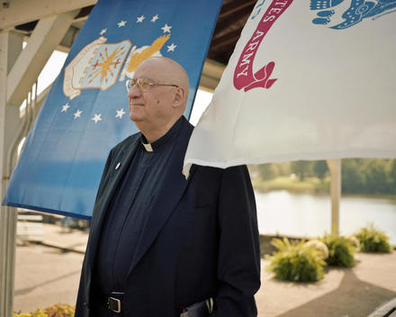 Priest At A Veteran\'S Appreciation Day In Pomeroy, Ohio, Usa.