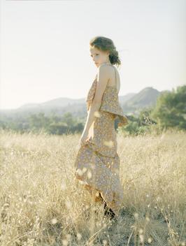 Fashionable Woman In Field