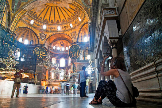 Hagia Sophia is a former Greek Orthodox patriarchal basilica (church), later an imperial mosque, and now a museum in Istanbul, Turkey. From the date of its construction in 537 until 1453, it served as an Eastern Orthodox cathedral and seat of the Patriarc