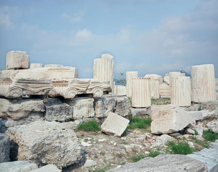 Ruins At The Parthenon.