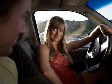 couple in car on outdoors adventure