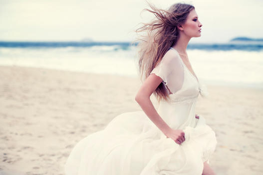 Fashion Picture Of A Woman At The Beach