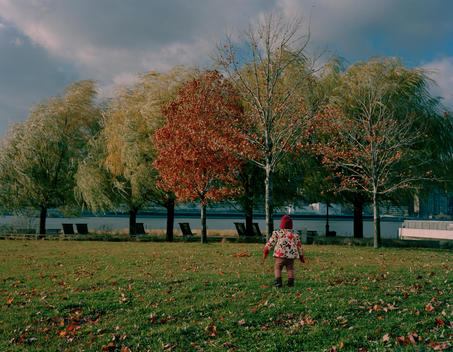 Child Running In Park