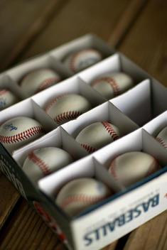Baseballs In Box