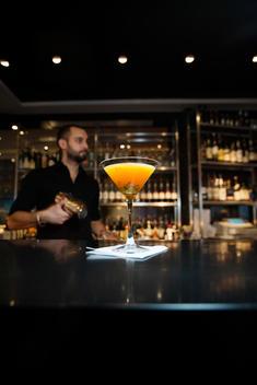 Bartender making classic drink, Stockholm