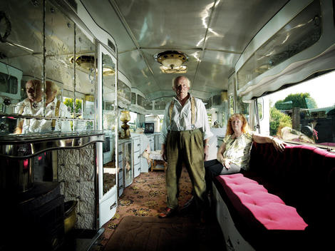 A Senior Couple Inside Their Elaborate, Vintage-Style House Truck.