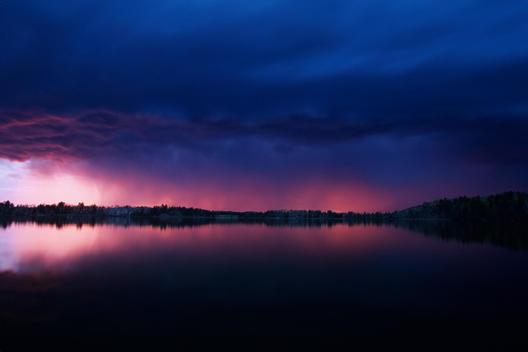 Evening Light Under Thunderstorm
