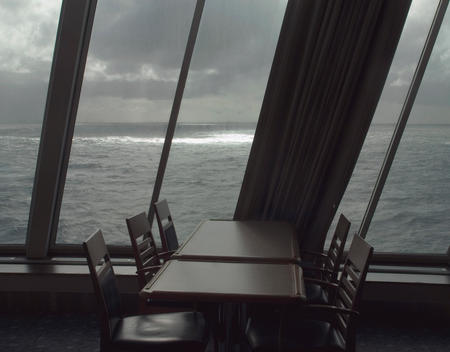 Table And Chairs On Ferry