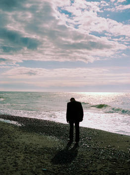 Lonely Man By The Sea