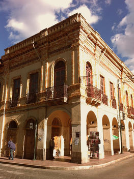 Historic building in Cuenca, Colonial, Ecuador
