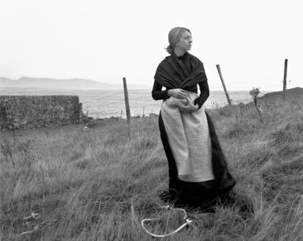 woman, potato famine, black and white, famine wall, 1850s