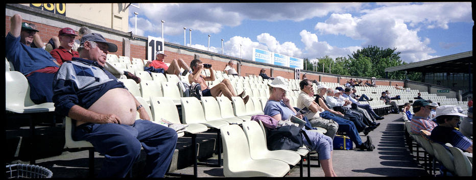 Man Sleeping In Crowd At Cricket Game, Edgbaston