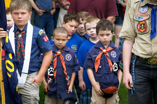 Boy scouts at the memorial day parade