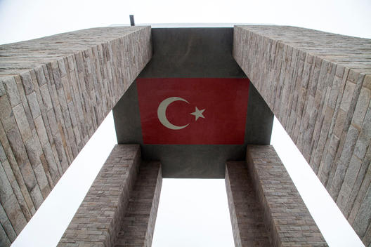 The Canakkale Martyrs\' Memorial is a war memorial in Canakkale Province, Turkey.