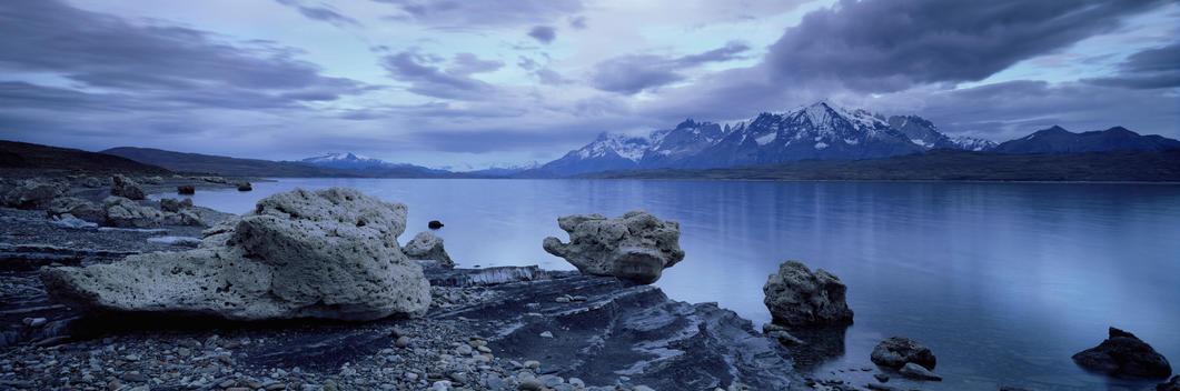 Landscape With Pumice Rocks, Torres del Pine National Park Chile