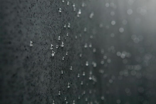 Raindrops On A Wall Of The Memorial To The Murdered Jews Of Europe