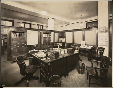 The Office Of Mr. Behar In The Italia-America Line Office Building At 1 State Street.