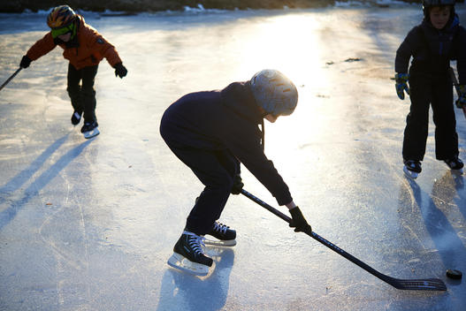 boys playing ice hockey