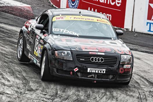 SCCA Racing; World Challenge Championship; Toyota Long Beach Grand Prix; TC #03 Audi TT with wheel in air