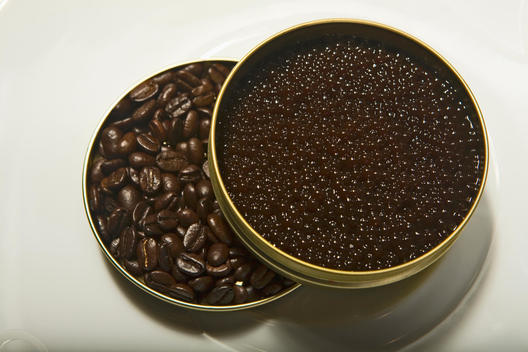 Cans Of Coffee And Caviar