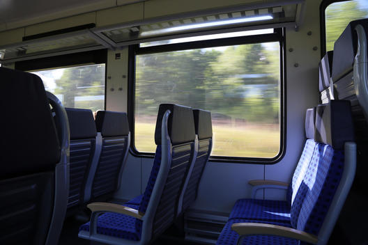 Interior of fast ICE train, Germany