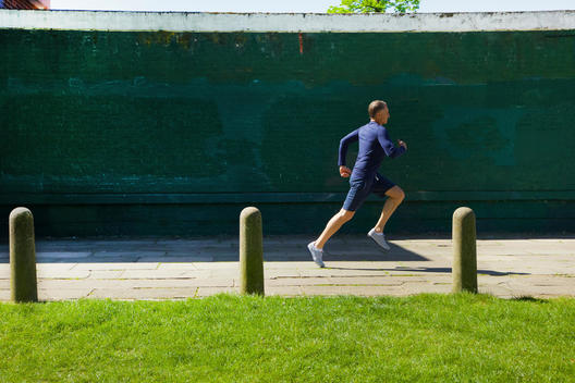 Mature Man Running in the Park