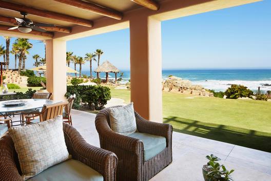 Luxury patio overlooking ocean, Cabo San Lucas, BCS, Mexico