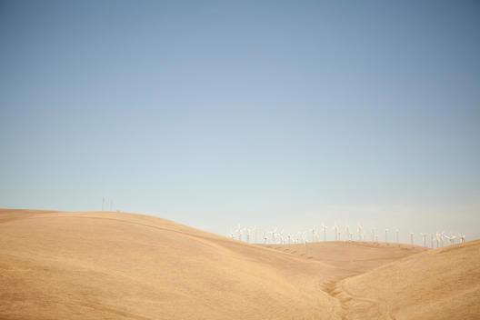 windmills in Northern California road trip off the 5 freeway