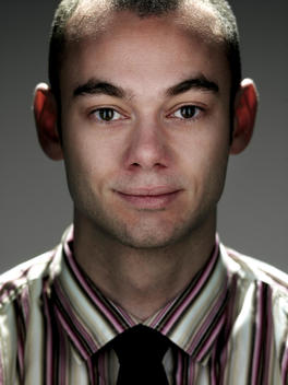 Portrait Of 15 - 20 Year Old Man Of Caucasian Appearance In Studio
