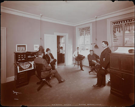 The Business Manager\'s Office In The Offices Of Theatrical Producer H. W. Savage.