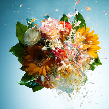 An exploding bouquet