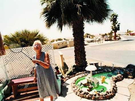 Senior Woman With Badminton