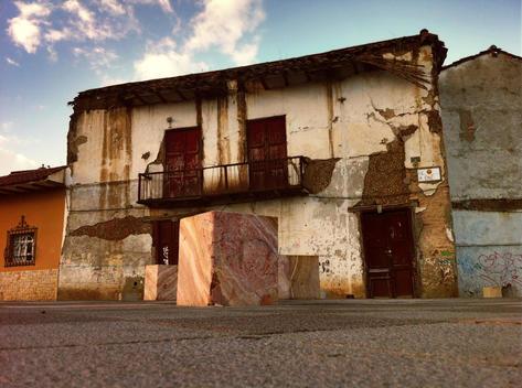 Historic building in Cuenca, Old Town, Colonial, Ecuador