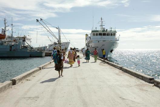 Boats At Port Funafuti