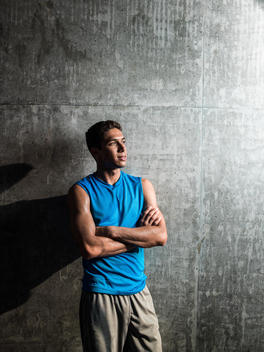 Portrait of an athletic young man