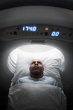 MRI Patient during scan