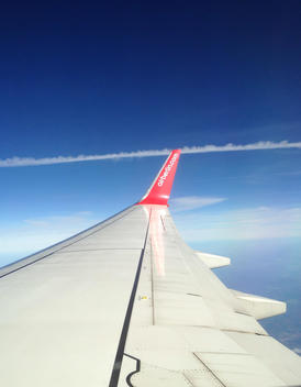 View from Air Berlin plane in the sky, travel