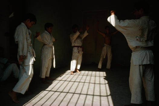 Martial arts practice at mid-day
